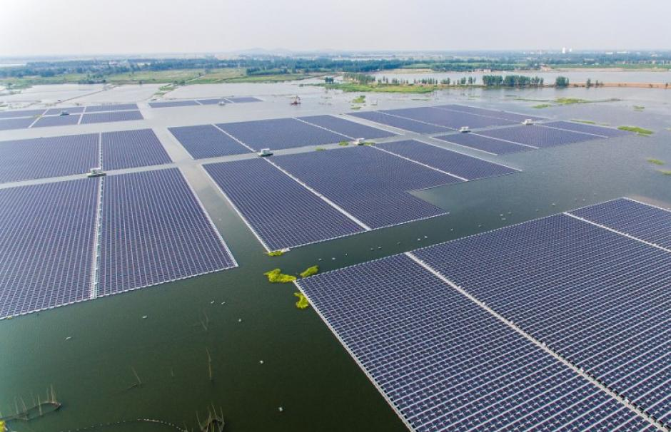 Floating solar farm China